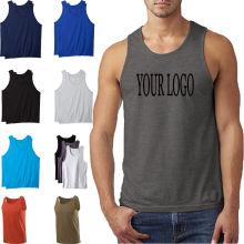 54fce28eb0c26 Bulk Wholesale Sleeveless T Shirt Printing 100% Cotton High Quality Mens  Stringer Muscle Tank Top