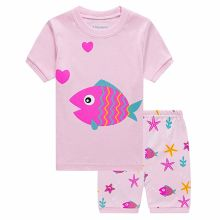 Little Children Clothes Pajamas Toddler Short Sleepwears Kids Summer 100% Cotton Wear