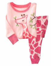 Little Baby Children Pajama 2 Piece Set 100% Cotton Giraffe Sleepwear for Children