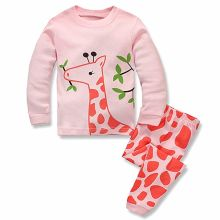 Toddler Kids Product Clothes Baby Pajama 100% Cotton Giraffe Sleepwear for Children