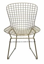 Modern Dining Restaurant Knock Down Metal Wire Chair