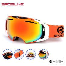 b0c268d10d Custom Dual Snowboard Protection Sun Glasses Mirrored Lens Anti Glare Outdoor  Sport Ski Goggles