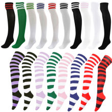 9b33666578e78 Girls Sexy Striped Stockings for Halloween Thigh High Stocking Over The Knee  Japanese Student Long Socks