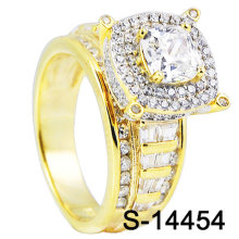 Wholesale Fashion Hip Hop Jewelry 925 Sterling Silver 14K Gold Plated Cubic  Zirconia Iced out Ring 7c0817f1a