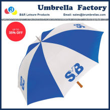 0a7e31b961e2f 62 Inch Large Golf Umbrella Blue White Pongee Wood Handle