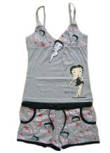 100% Cotton Girls Pajamas Sleeveless Top Aop Shorts Children Wears Sleep Wears
