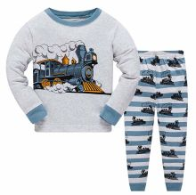 Boy Pajamas Kids Wear Cotton 2 Piece Sleepwear Long Sleeve Pajama Set Toddler Pajamas Truck Dinosaur