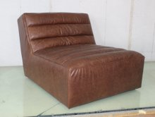 Full Leather Sofa Without Armrest Vintage