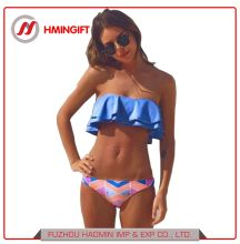 dec8413b25f82 Nylon Lotus Leaf Bikini Blue Printed Two Styles Wear Swimsuit Women′s  Swimwear & Beachwear