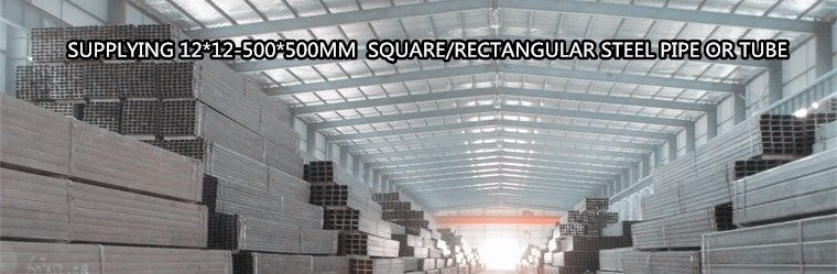 ASTM A500/En 10219 High Qaulity 12*12mm-500*500mm Galvanized Hollow Section Square /Rectangular Steel Pipe or Tube for Sturcture/Furniture