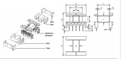 Ee Electronic High Frequency Transformer for Lighting