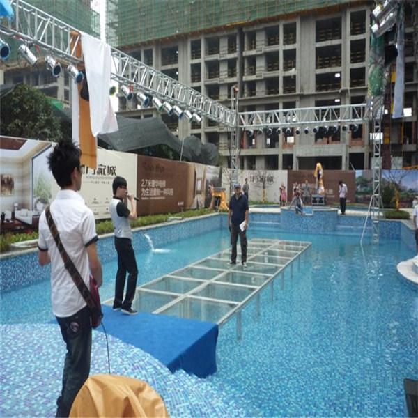 China Truss Aluminum Event Catwalk Dj Swimming Pool Glass