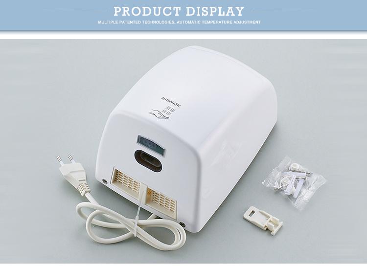 Home Bathroom ABS Plastic Automatic Sensor High Speed Jet Air Hand Dryer