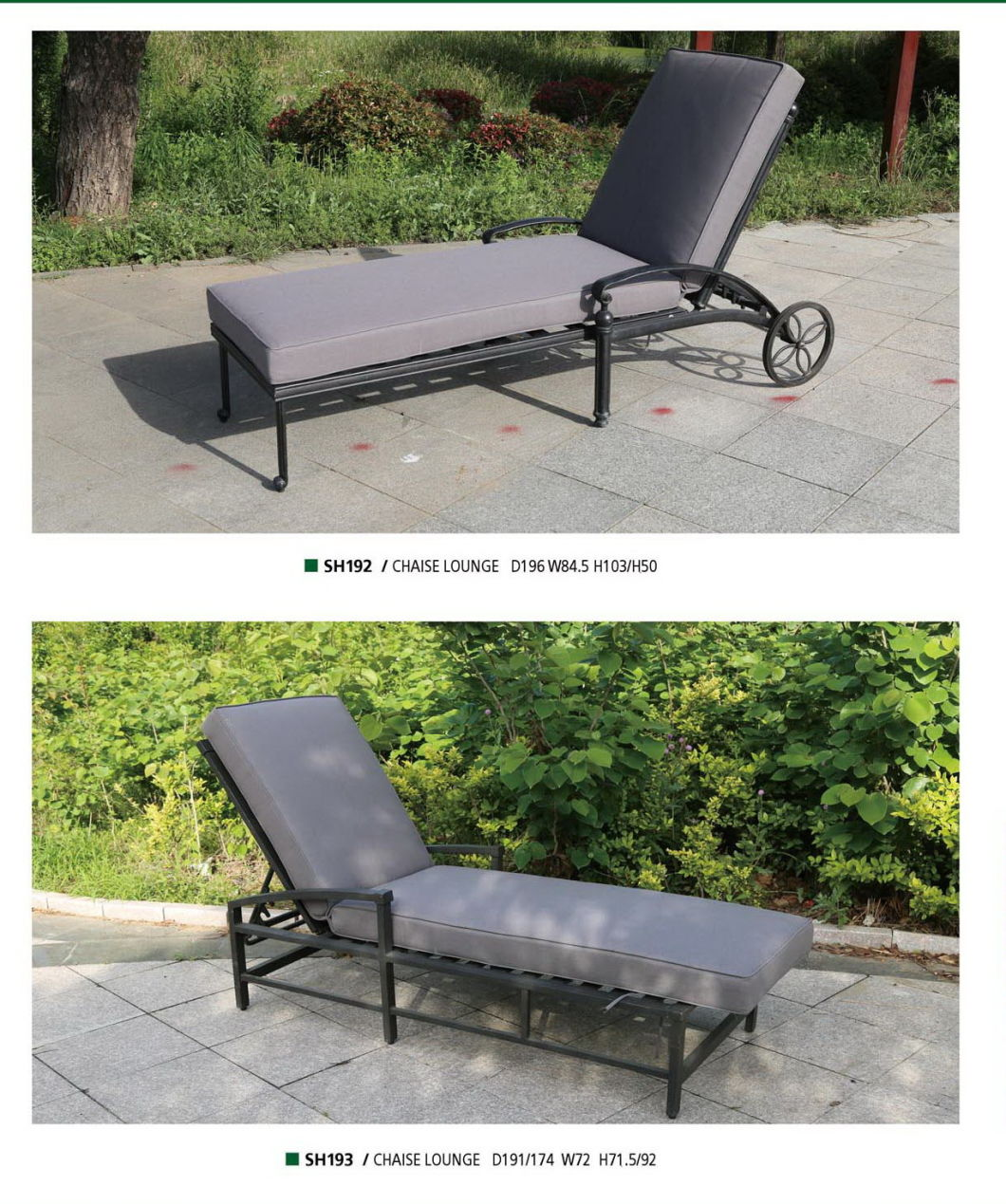 - American Style Outdoor Chaise Lounge Backyard Lounge Garden Chaise