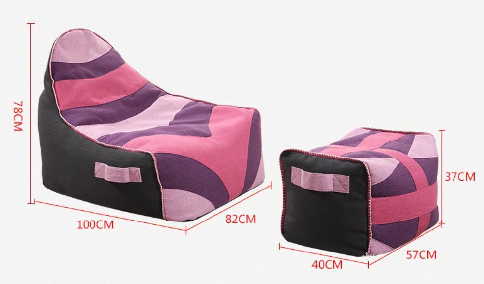 China Outdoor Bean Bag Chair Sofa Fabric Bean Bag Cover Filling Foam Lazy  Sofa