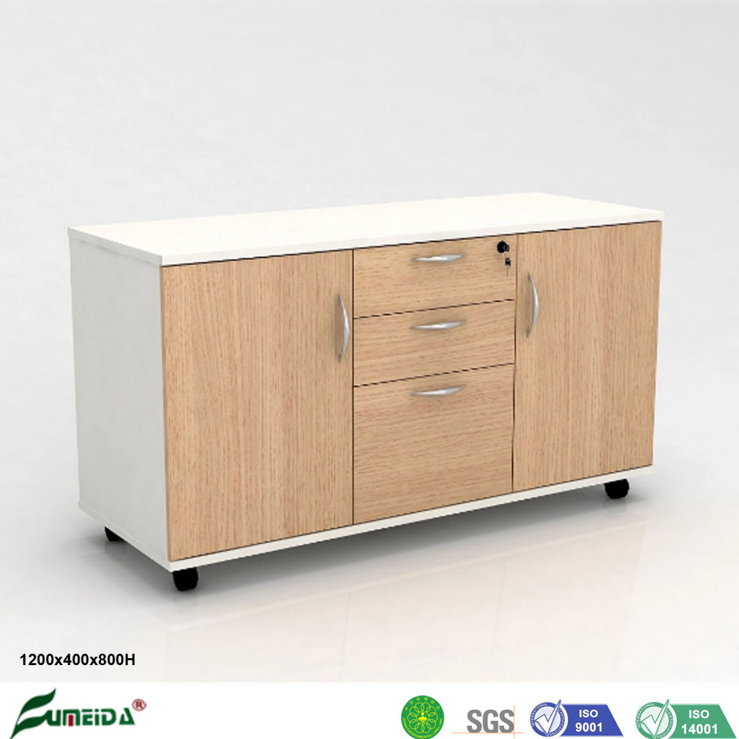 China Standing Office Furniture File Cabinet Wooden Low Height