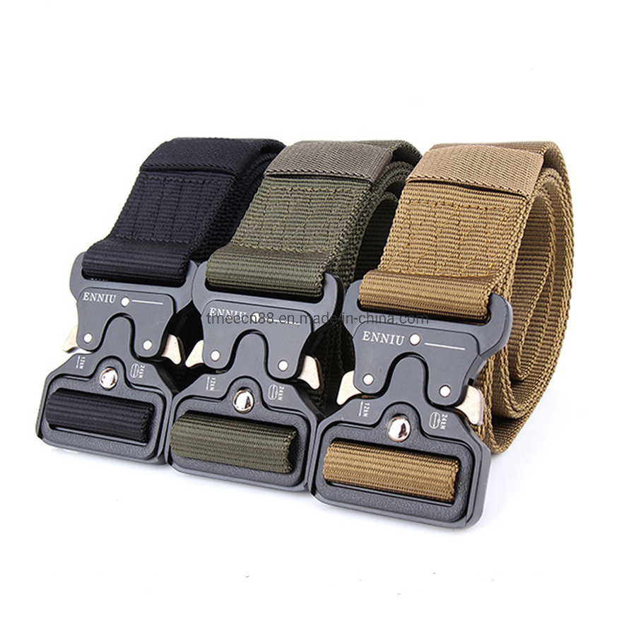 Mens Tactical Belt Military Nylon Gun Belts Co<em></em>ncealed Carry Heavy Duty Quick Release Buckle Riggers 1.5 Inch