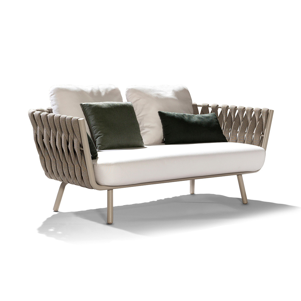 China Chinese Modern Design Outdoor Wicker Woven Sofa Collection Armchair