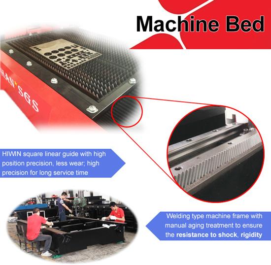 Fast Speed Carbon Steel Stainless Steel Fiber Laser Cutting Machine