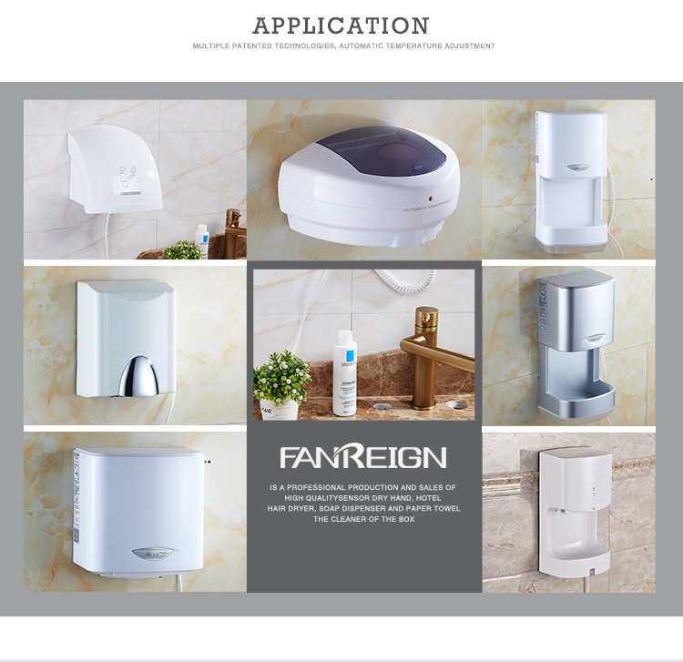 2018 New Design 1000W Automatic High Speed Hand Dryer for Hotel