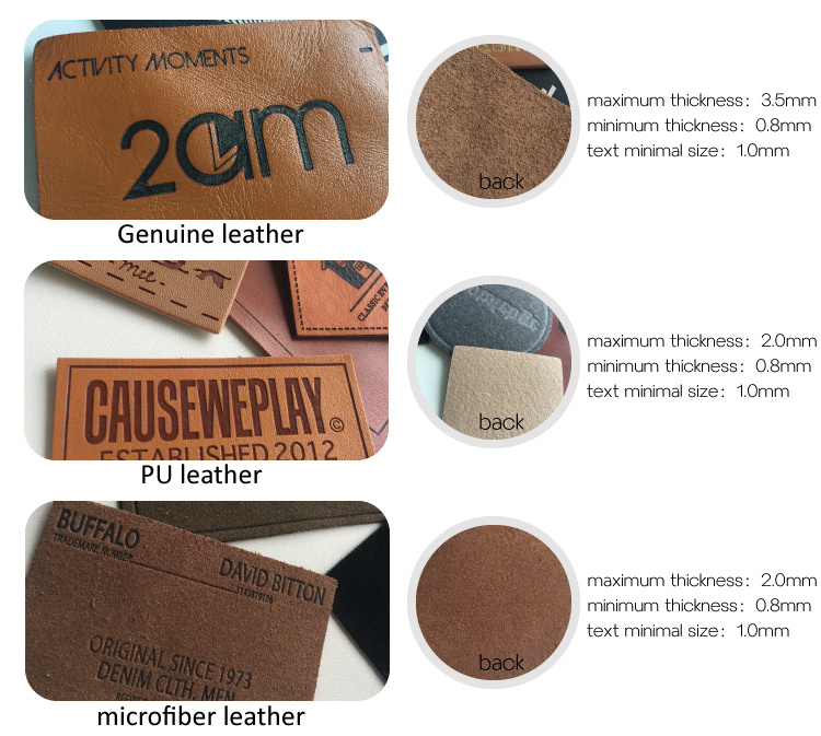 Custom Leather Patch Jeans Label