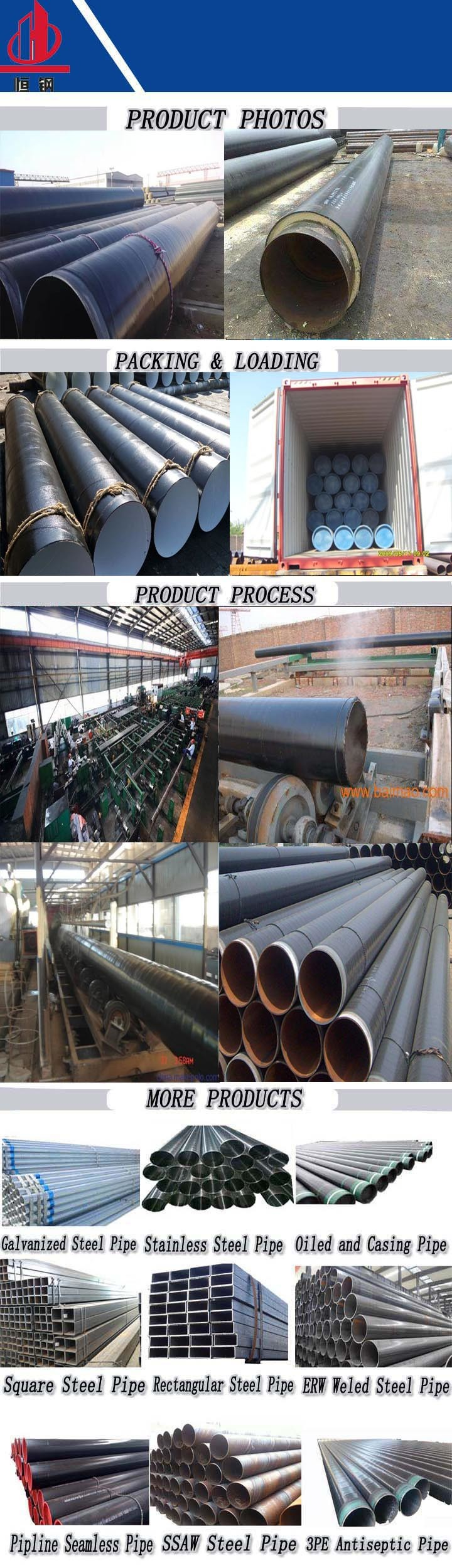 Spiral Welded Anti Corrosion Steel Pipe for Oil Application