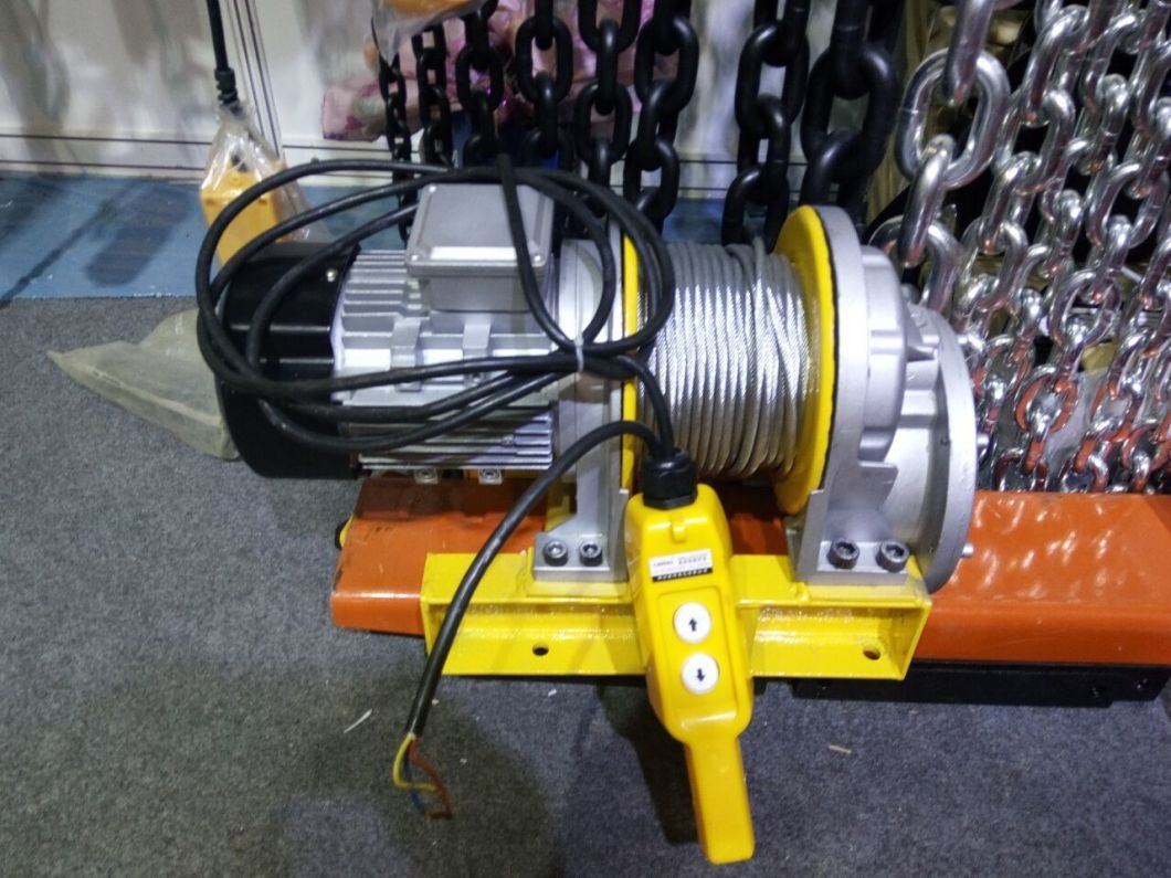 China 220v 3 Phase Electric Wire Rope Hoist Electric Winch