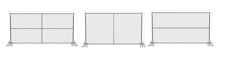 Chain Link Temporary Fene Panels 8FT X 14FT 60mm X 60mm X 3.00mm Chain Link Fence Panels