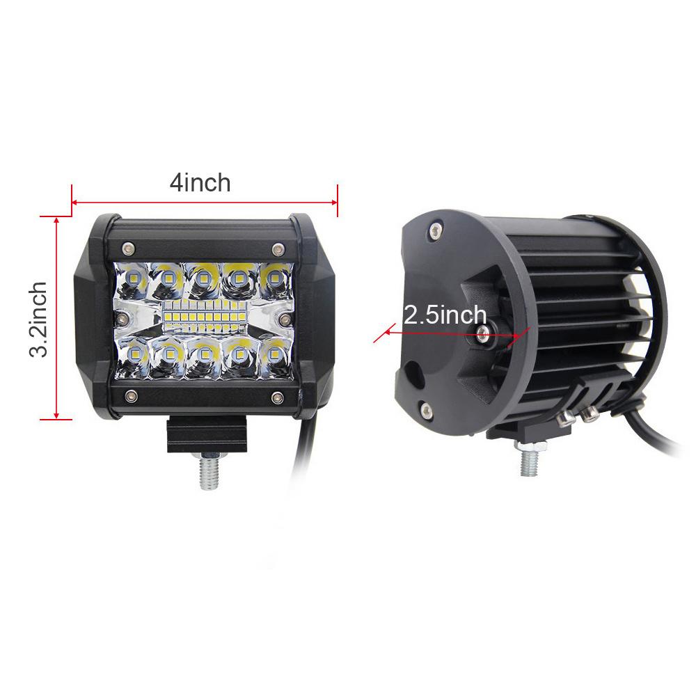 Spot Beam IP69K Waterproof Triple Row EMC RoHS Car Auto LED Light Bar