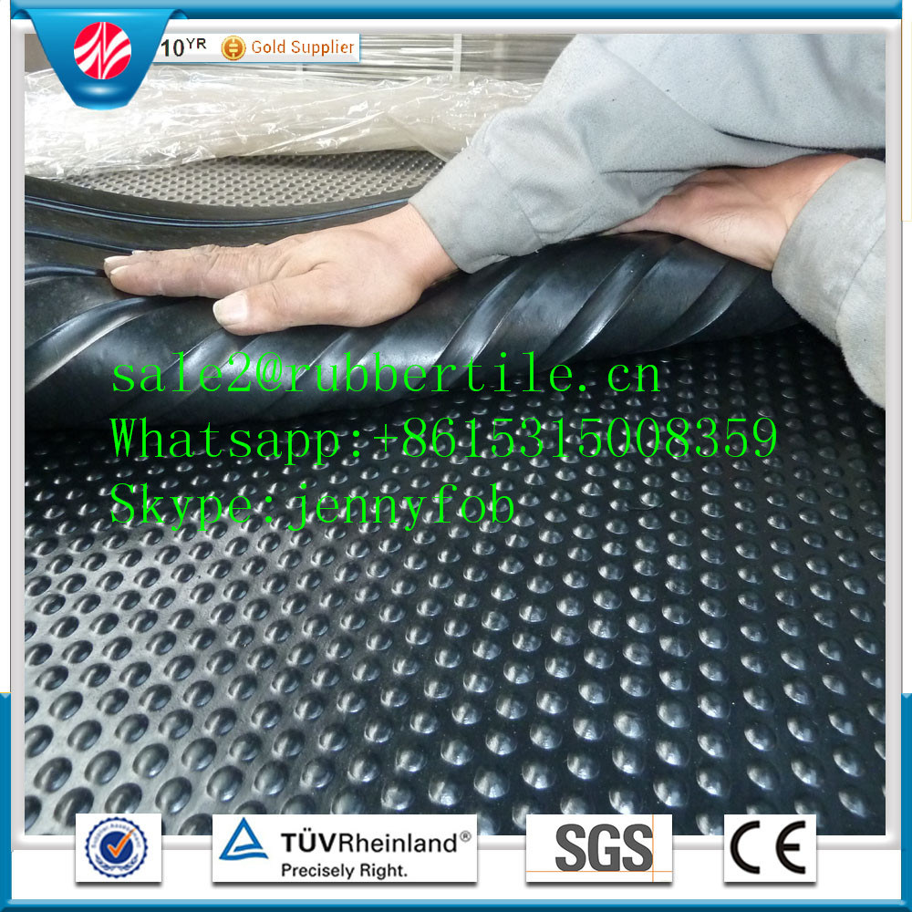China 18mm Bobbletop Rubber Stable Mat Cow Horse Stall