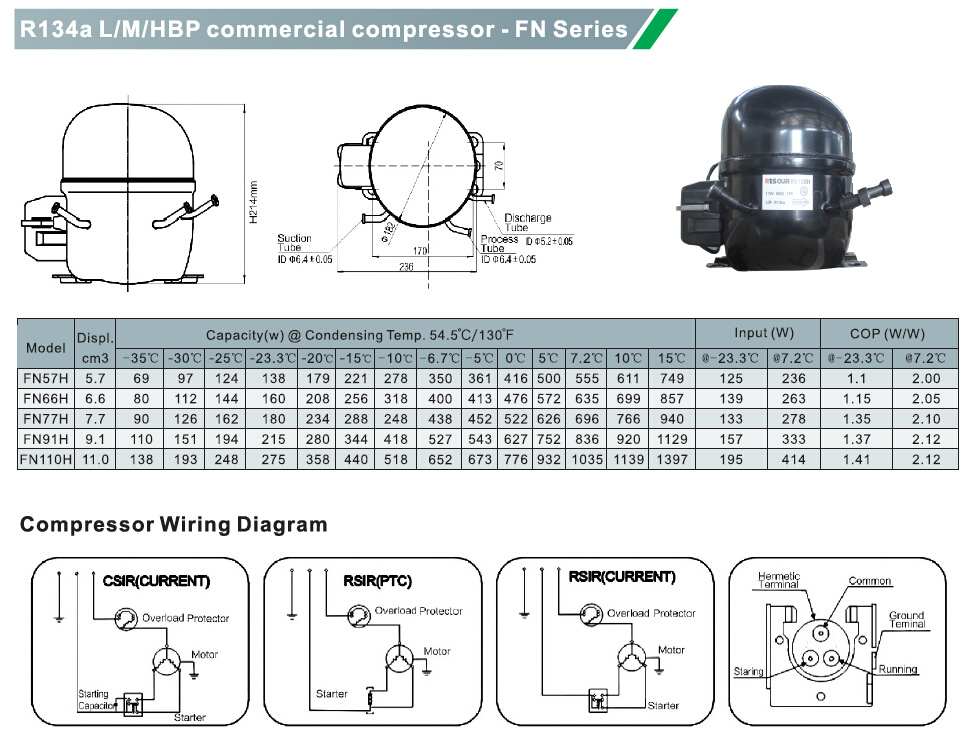 China Refrigerator Compressor Fridge Compressor Refrigeration