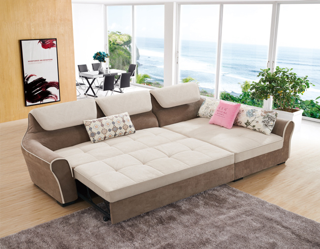 China L Shape Fabric Sofa Bed With