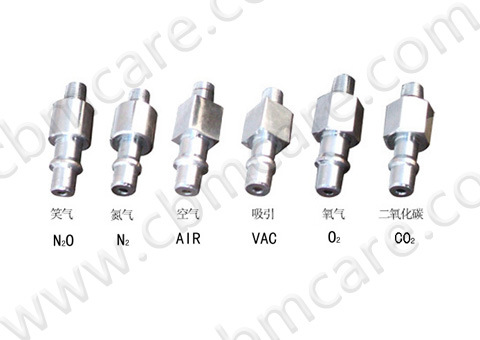 German Standard/DIN Gas Adapters for Medical Gases