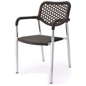 Scratch Resistant Outdoor French Bistro Garden Restaurant Furniture Rattan Chairs Chair (RC-06030)
