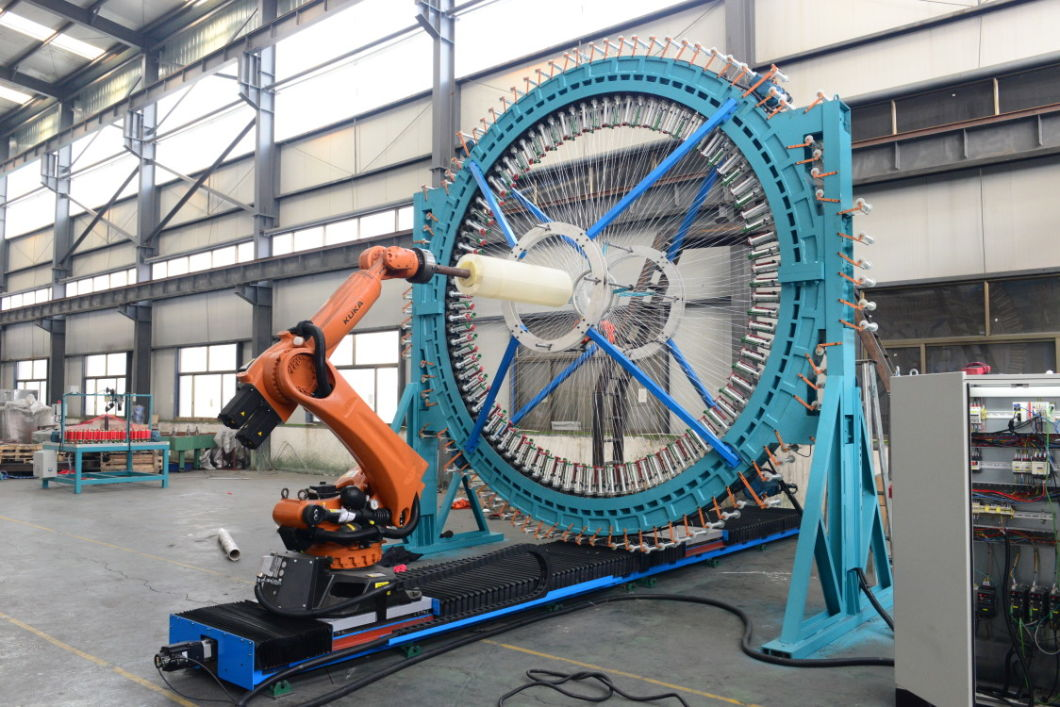 Radial Carbon and Glass Fiber Braiding Machine