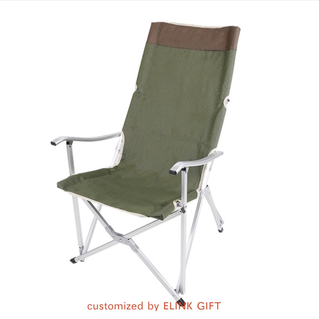 China Heavy Duty Durable Adjustable Aluminum Tube Foldable Camping Chair Beach Chair