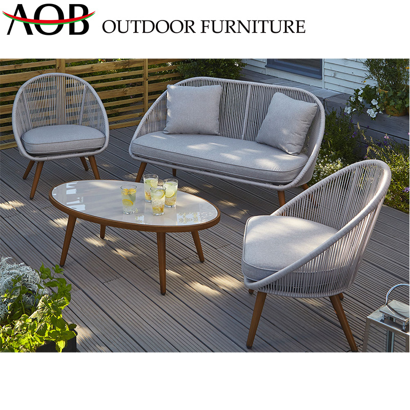 Sectional Outdoor Rope Wicker Chairs