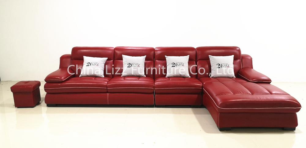 L Shape Leather Modular Corner Sofa Set