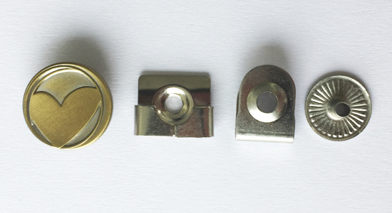 Heart Shape Logo me<em></em>tal Brass Snap Button for Garments
