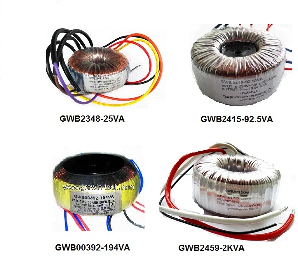 Professional Electrical Toroidal Transformers with IEC, ISO9001, Ce Certification