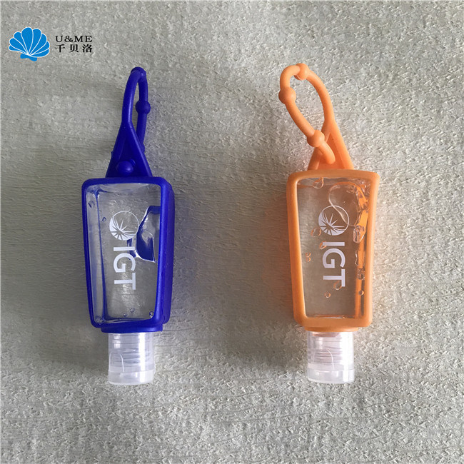 Mini Pocket Hand Gel Hand Sanitizer with Silicone Holder