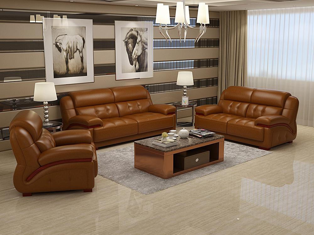 Leather Leisure Corner Recliner Sofa
