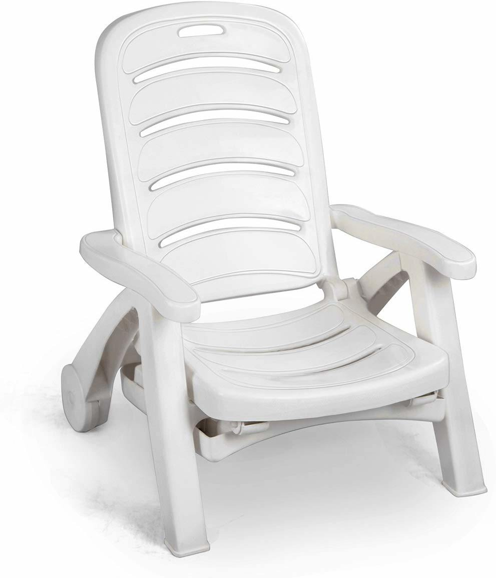 China Plastic White Outdoor Patio Chaise Lounge Chair Sun Lounger With Footrest