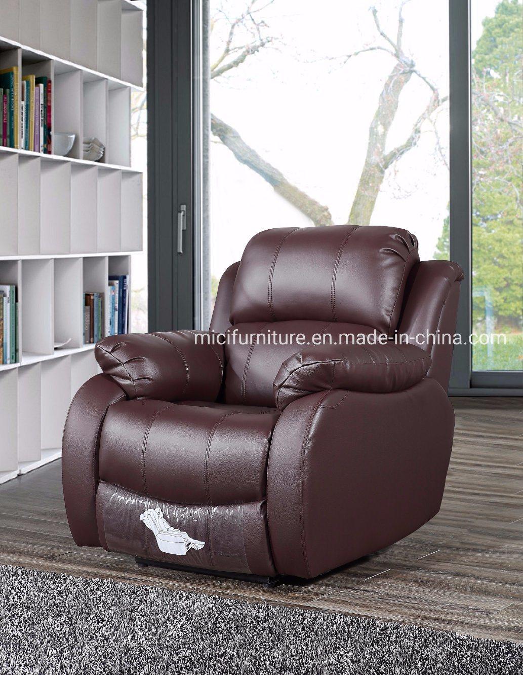 - China Home Furniture Cinema Single Genuine Leather Recliner Sofa