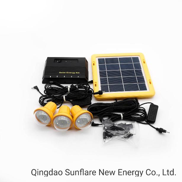 3 Led Bulbs Usb Solar Home Lighting Kit