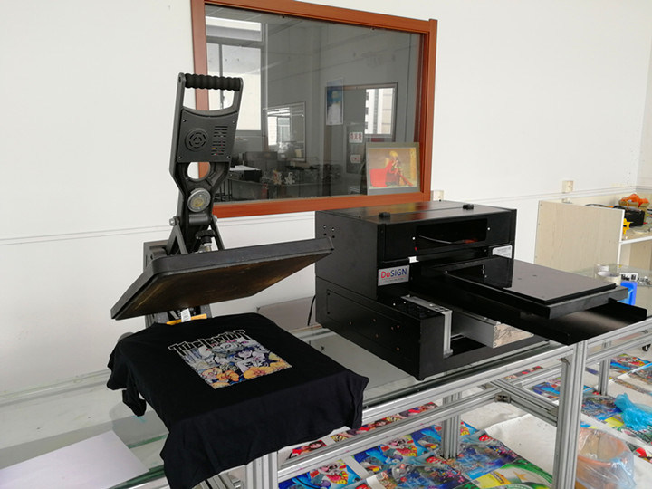 dfb02c15f A2 A3 size impresora textil digital dtg direct to garment printing machine