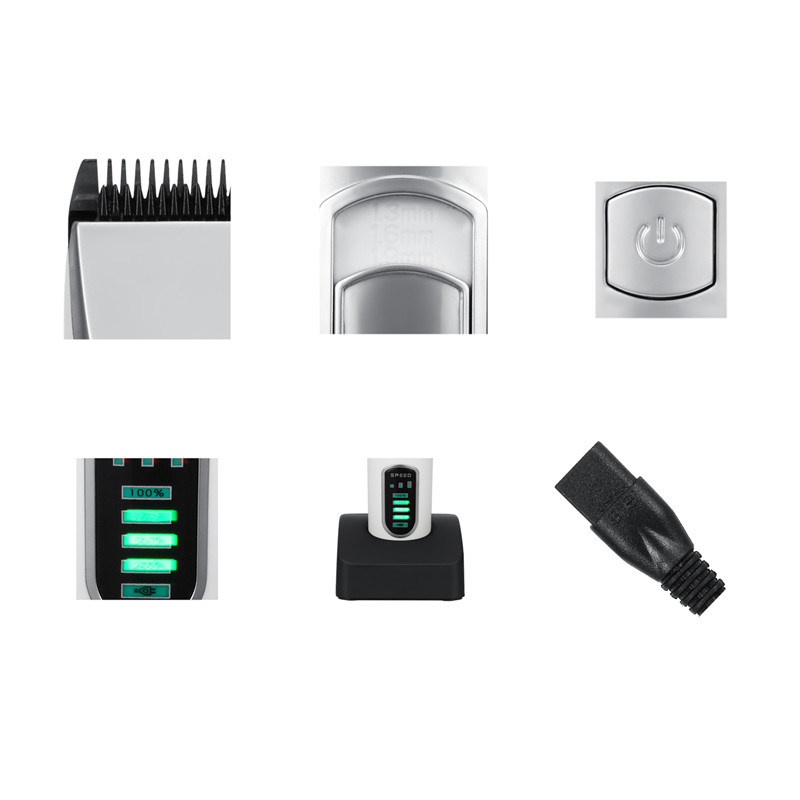 Raliable Performance Fine Adjustment Long-Lasting Battery Rechargeable LED Hair Clipper