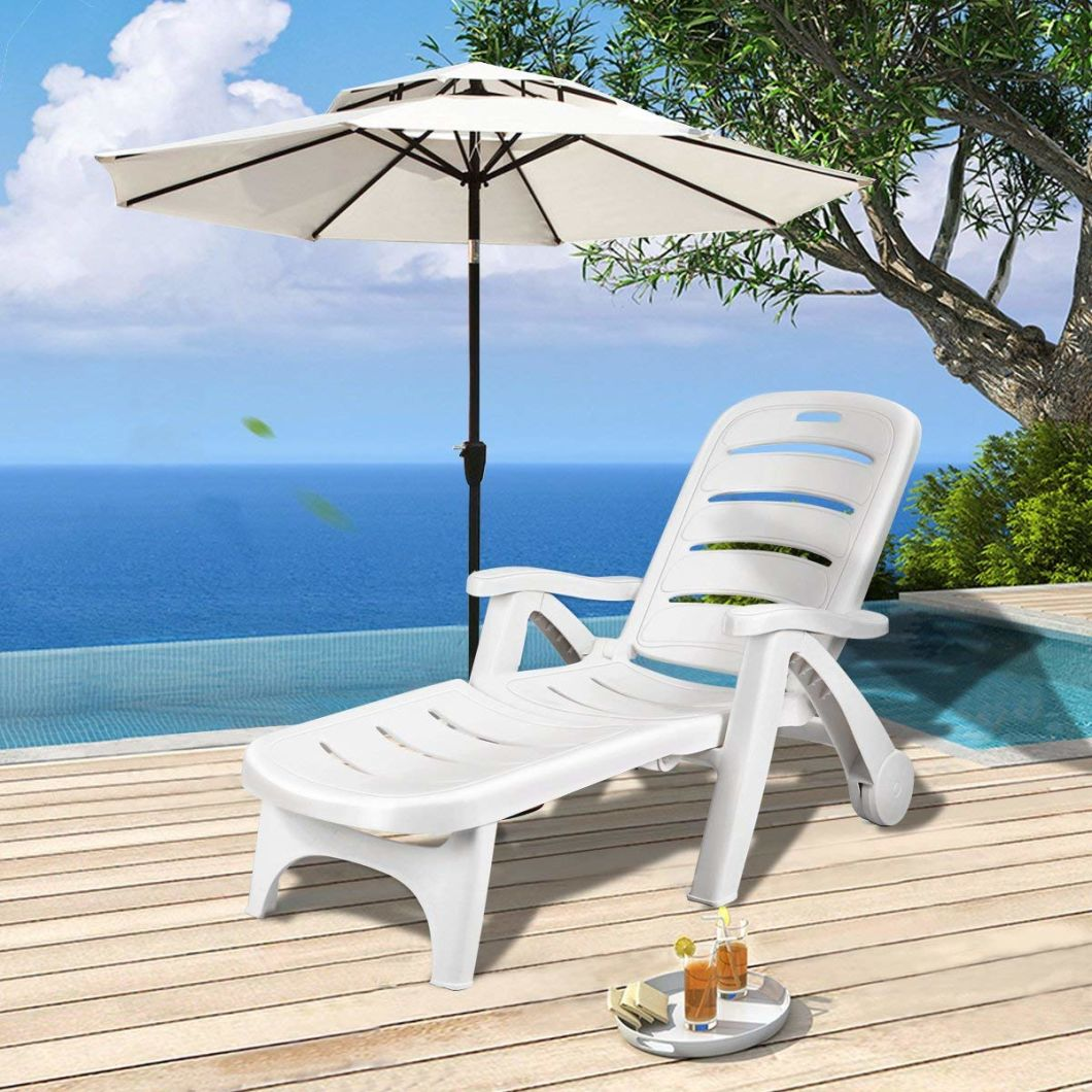 Enjoyable China 5 Position Backrest Adjustable Plastic Outdoor Patio Chaise Lounge Chair With Wheels Armrest Ocoug Best Dining Table And Chair Ideas Images Ocougorg