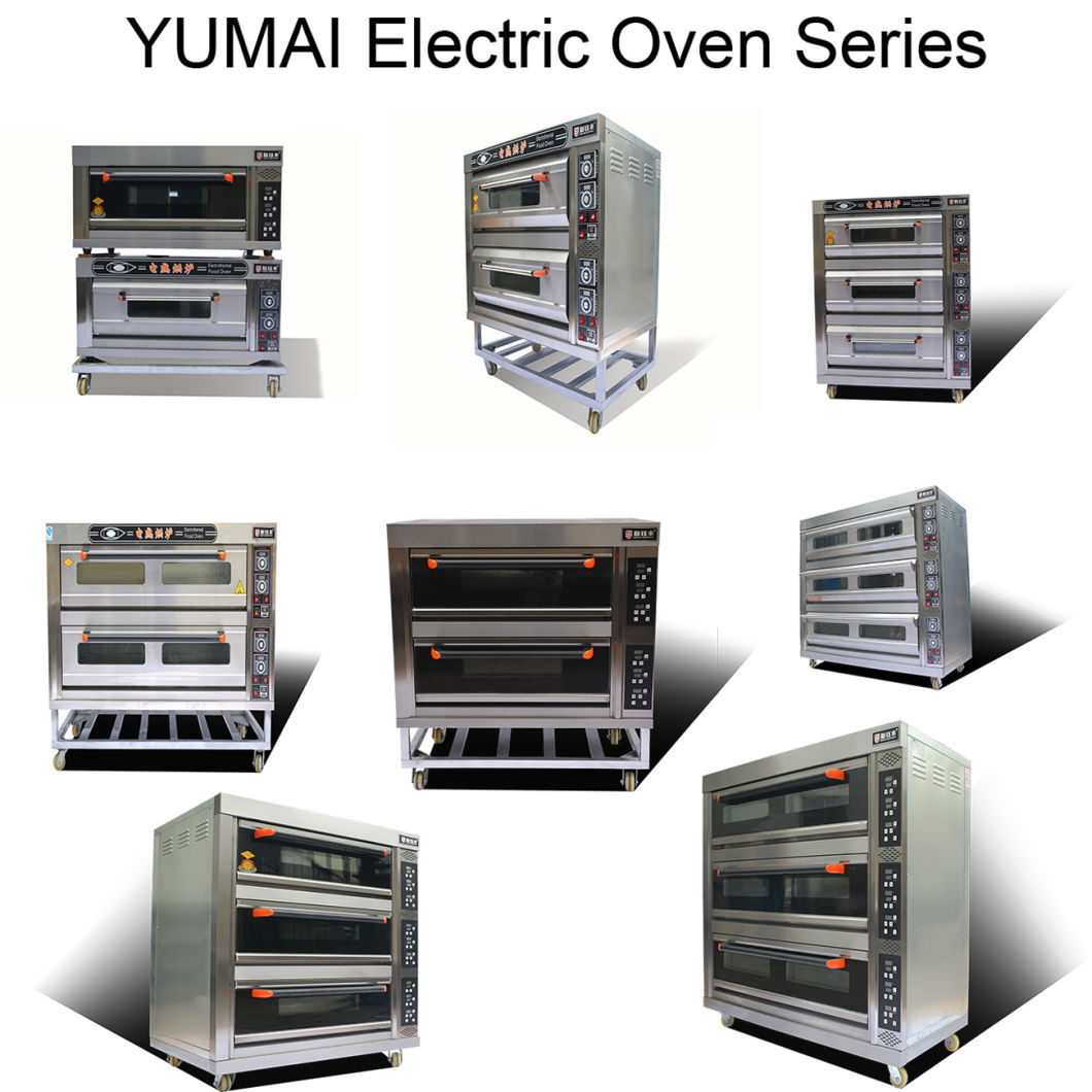Yumai Luxury 3 Deck 6 Trays Electric Baking Oven Machine with Commercial Catering Equipment