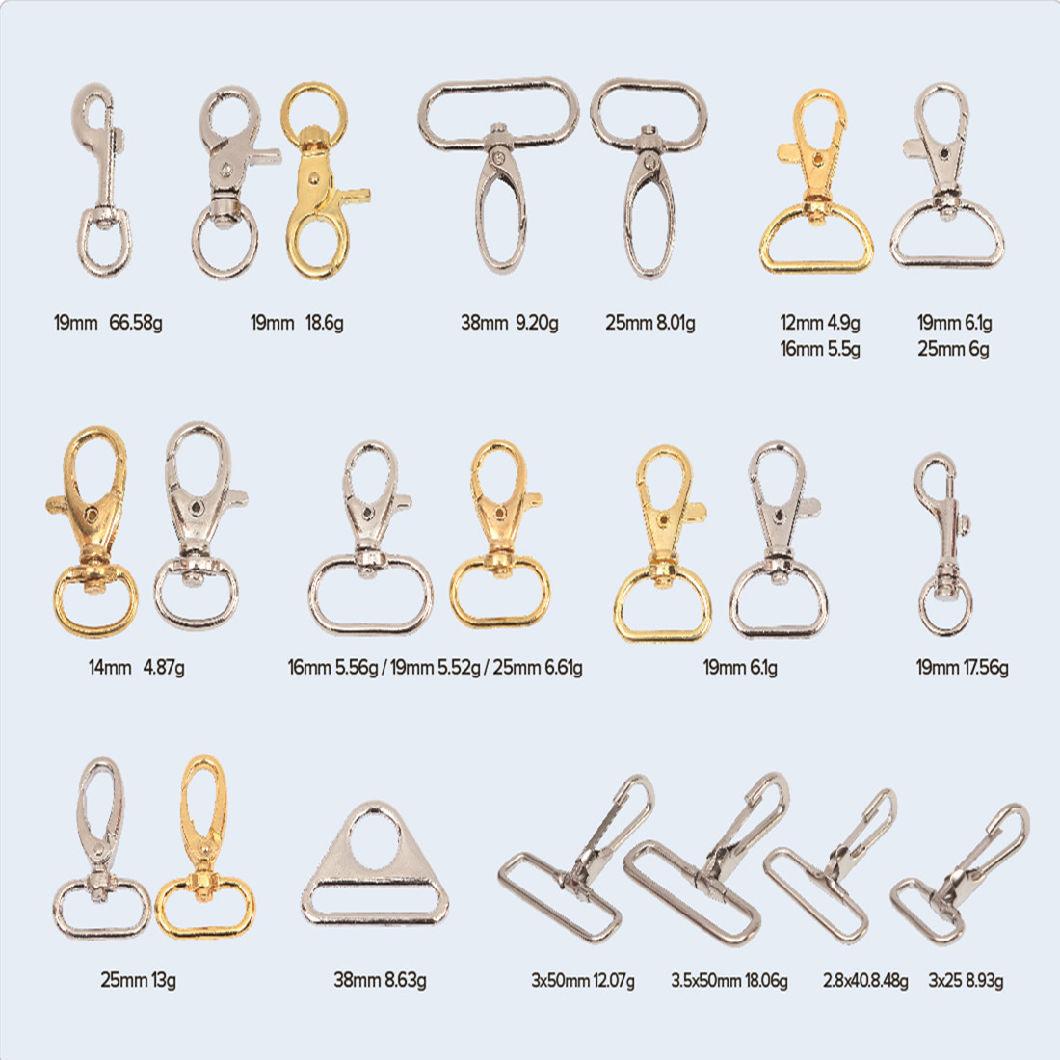 me<em></em>tal Dog Hook Snap Buckle Bag Accessories Handbag Hook Fitting Lobster Swivel Clasp Silver Claw Clasp Snap Hook for Dog Leashes